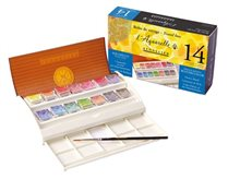 14 watercolor travel box