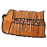 16 wood carving tools set in leather case